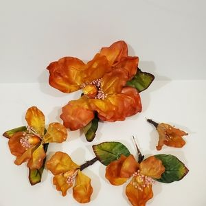 Other - Orange magnolia flowers for crafting or wreath